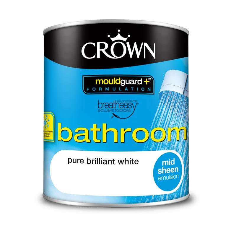 Боя за баня Crown Mid Sheen Pure Brilliant White