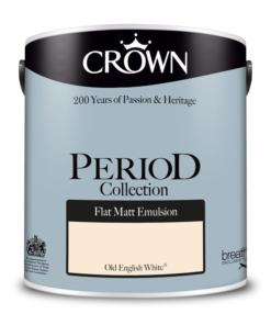 Интериорна боя Crown Period Matt Old English White