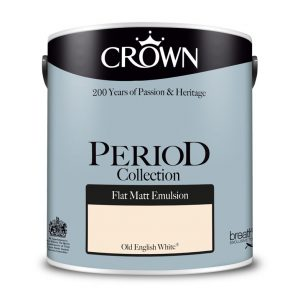 Интериорна боя Crown Period Matt Old English White