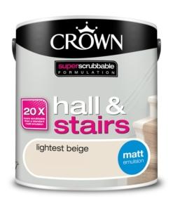 Почистваща се боя Crown Lightest Beige