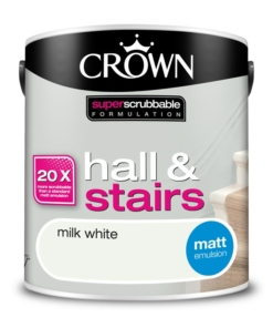 Почистваща се боя Crown Milk White
