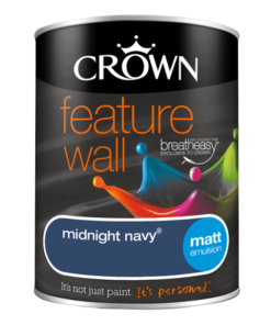 Боя за акцент Crown Feature Wall Midnight Navy 1.25l