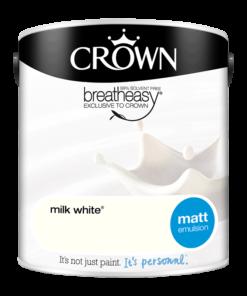 Интериорна боя Crown Matt Emulsion Milk White 2.5l