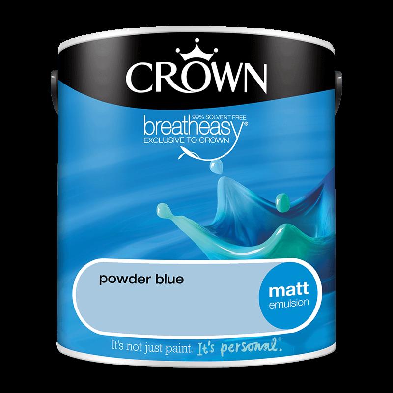 Интериорна боя Crown Matt Emulsion Powder Blue 2.5l