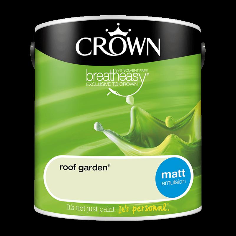 Интериорна боя Crown Matt Emulsion Roof Garden 2.5l