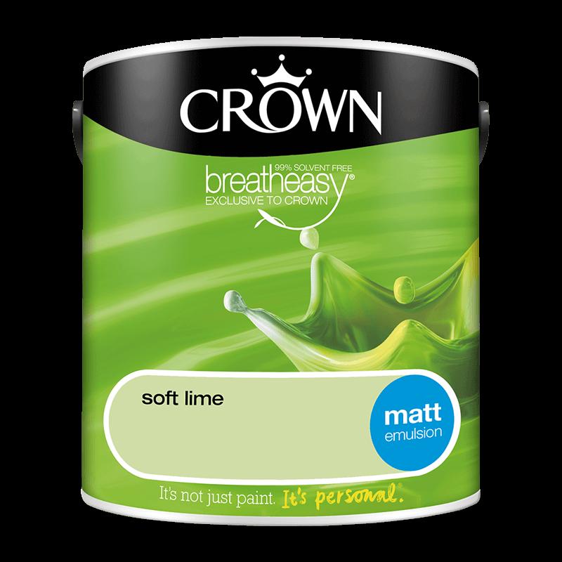 Интериорна боя Crown Matt Emulsion Soft Lime 2.5l