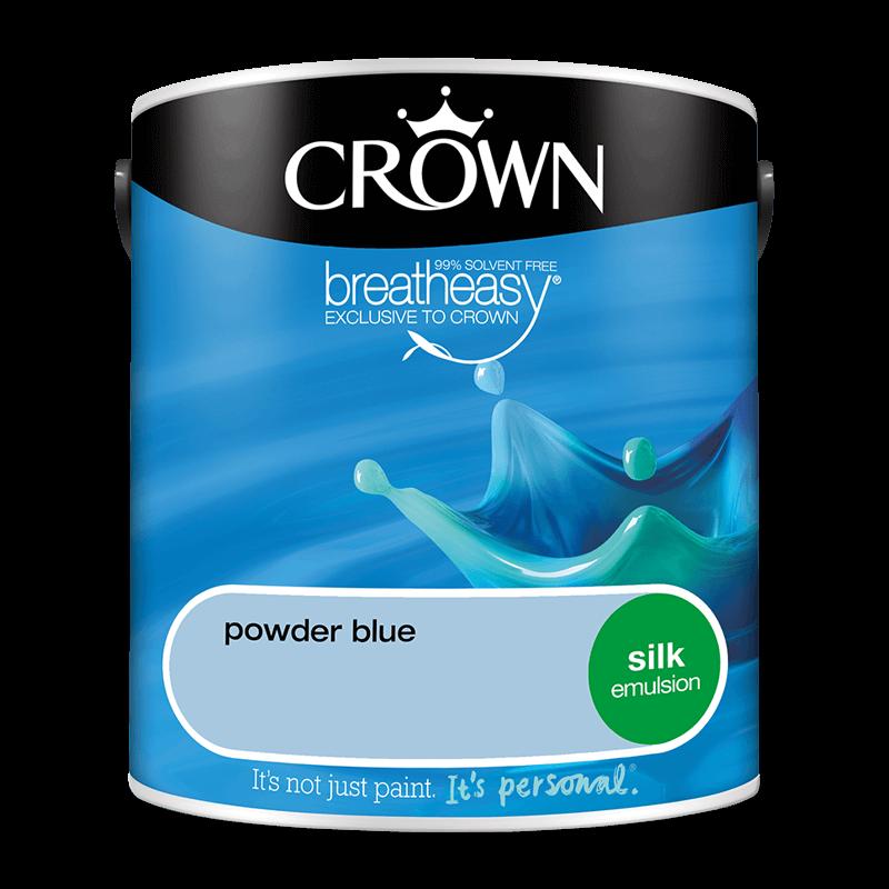 Интериорна боя Crown Silk Emulsion Powder Blue 2.5l