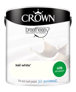 Интериорна боя Crown Silk Emulsion Sail White 2.5l