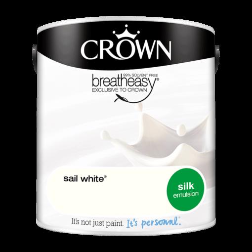 Интериорна боя Crown Silk Emulsion Sail White 2.5l