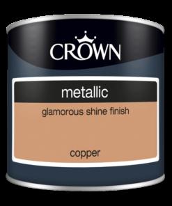 Тестер боя за акцент Crown Metallic Copper 125ml