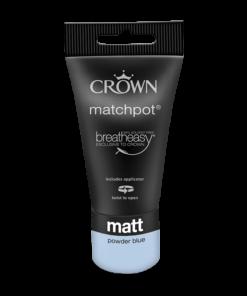 Тестер Интериорна боя Crown Matt Emulsion 40 ml Powder Blue