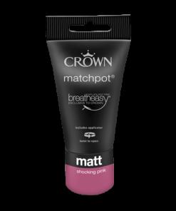 Тестер Интериорна боя Crown Matt Emulsion 40 ml. Shocking pink