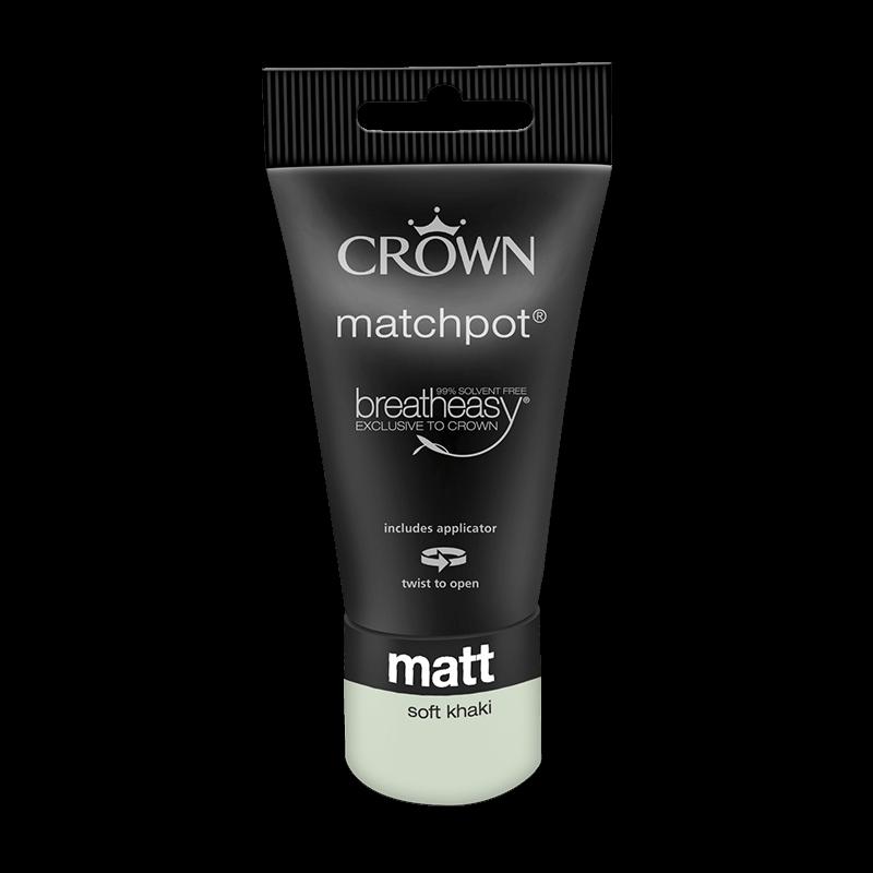 Тестер Интериорна боя Crown Matt Emulsion 40 ml Soft Khaki