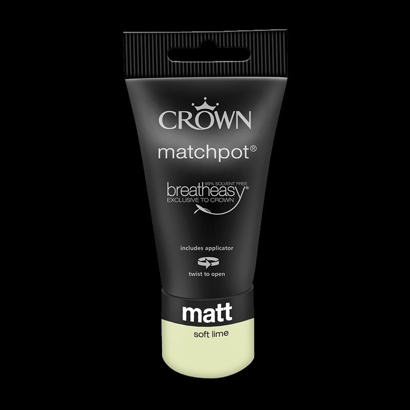 Тестер Интериорна боя Crown Matt Emulsion 40 ml Soft Lime