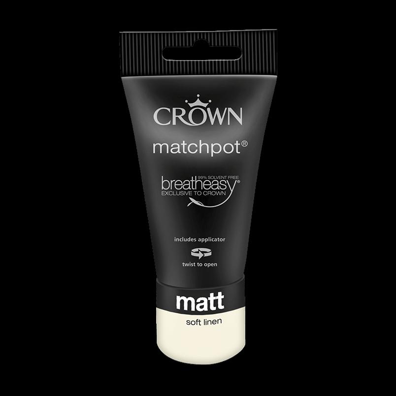 Тестер Интериорна боя Crown Matt Emulsion 40 ml Soft Linen