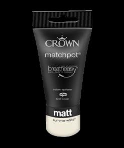 Тестер Интериорна боя Crown Matt Emulsion 40 ml Summer White