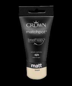 тестер интерирона боя Crown Matt Emulsion Taupe 40 ml