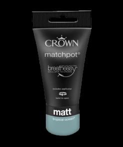 Тестер Интериорна боя Crown Matt Emulsion 40 ml Tropical ocean
