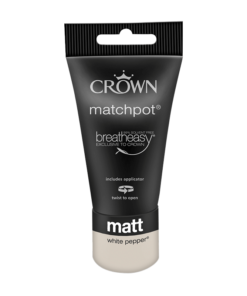 тестер интериорна боя Crown matt emuslion white pepper 40 ml