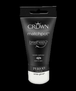 Тестер Интериорна Боя Crown Period Collection Matt 40ml White glove
