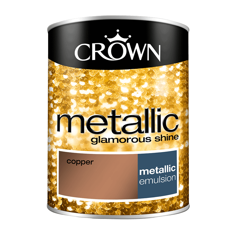 Featuring Paint Crown Fashion Wall Metallc Copper 1 25
