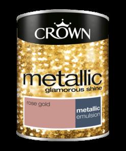 Боя за акцент Crown Metallic 1.25l Rose Gold