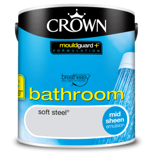 Боя за баня Crown Bathroom 2.5l Soft steel