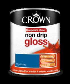 боя за дърво и метал Crown Non Drip Gloss Regal Blue 0.750l