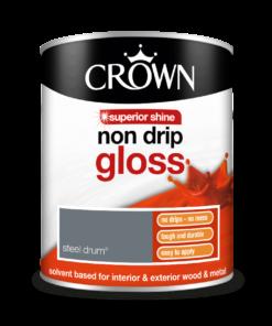 боя за дърво и метал Crown Non Drip Gloss Steel Drume 0.750l