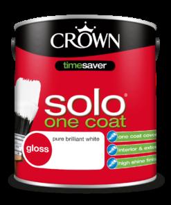 боя за метал и дърво Crown Solo one coat 2.5 l pbw
